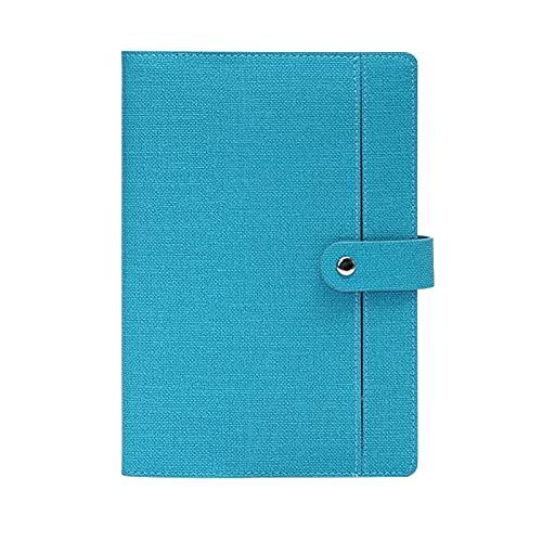 Organizador de Escritorio Libro de Registro de reuniones de Negocios de Cuero Simple, Suministros de Oficina Frescos pequeños Logotipo Personalizado Soporte para Bandeja (Color : A)