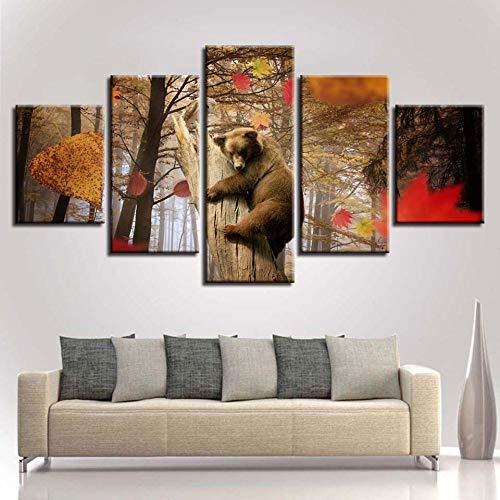 RuYun decoratief 5 met inkjet - strandrestaurant rotsachtige seascape schilderij slaapkamer sofa achtergrond kantoor schilderij linnen schilderkunst, schilderij kern 30x40cmx2 30x60cmx2 30x80cmx1, h233-10