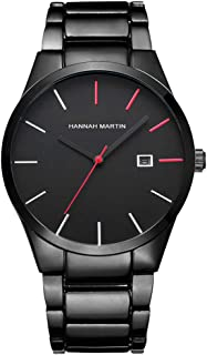 Mens Watches with Stainless Steel Waterproof Calendar Quartz Watch for Men, Auto Date Mens Watch