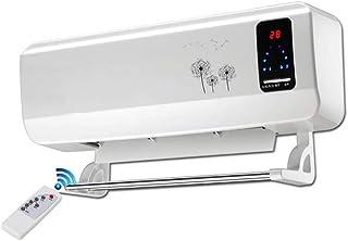 Radiador eléctrico Calefactor cerámico de Pared con Temporizador de Control Remoto 8h, 2000 W Blanco