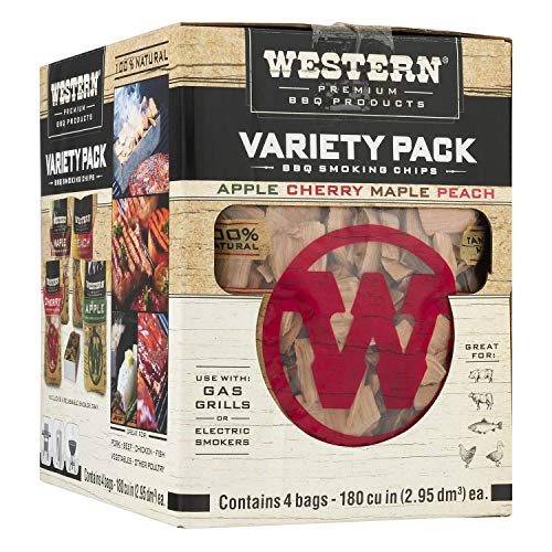Western Premium BBQ Products BBQ Smoking Chips Variety Pack 4 Pack