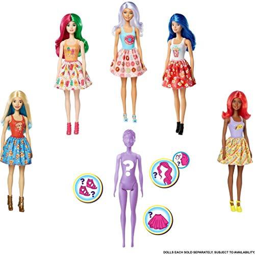 Barbie- Color Reveal Assortimento a Sorpresa, Vestito e Acconciatura Giocattolo per Bambini 3+ Anni, GTP41