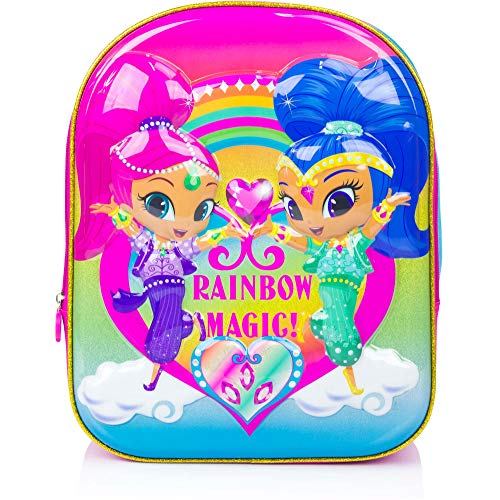Shimmer and Shine 3D 'Rainbow Magic' Luxury High Gloss EVA Backpack/ Book bag, perfect for school, holidays and clubs
