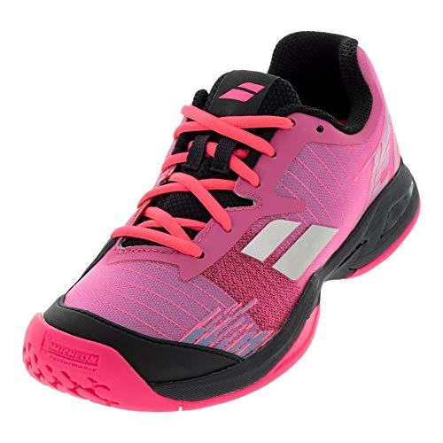 Babolat Kinder Jet Allcourt Junior Tennisschuhe Allcourtschuh Pink-Schwarz, Zapatillas de Tenis Unisex Niños, 39 EU
