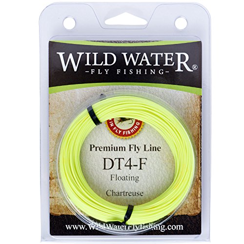 Wild Water High Floating 4-Weight Chartreuse Double Taper Fly Fishing Line, 90 ft