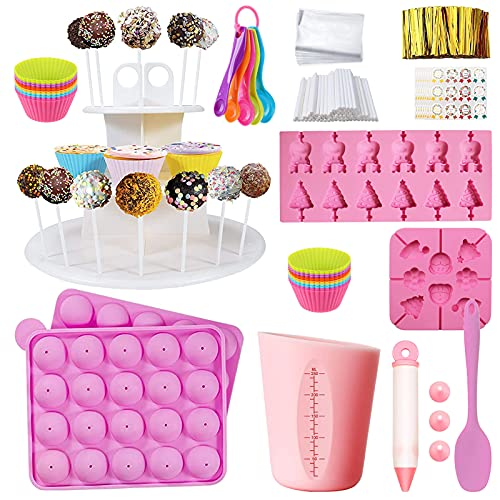 Cake Pop Maker Kit with Silicon Lollipop Cake Pop and Chocolate Mold ,Cupcake Molds,3 Tier Cake...