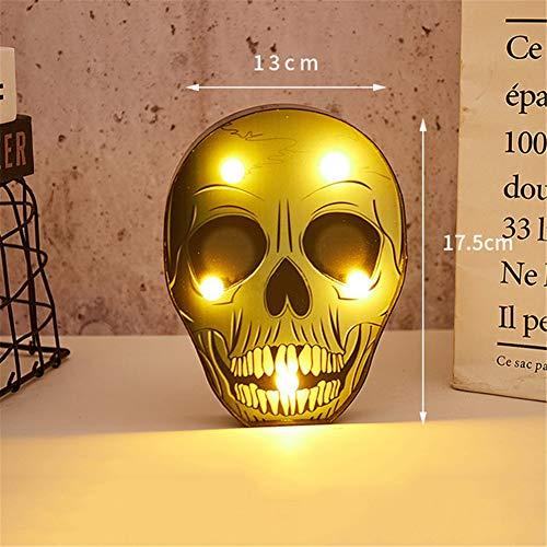 WG Halloween-Dekorationen, Nachtlicht-Spinnenbar-Kürbisgeisterschädel-Lampen, Halloween-Kostüme, Urlaubsvorstellungen und mehr,Shantouc
