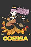 Odessa: Odessa Halloween Beautiful Mermaid Witch Want To Create An Emotional Moment For Odessa?, Show Odessa You Care With This Personal Custom Gift ... Very Own Planner Calendar Notebook Journal