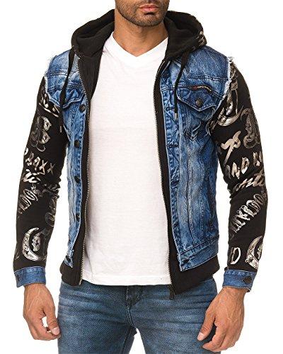 Cipo & Baxx Herren Jeans Jacke 181 Blau2 M