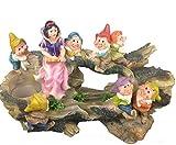 Design Schneewittchen mit 7 Zwerge 13020 Zwerg 32 cm Hoch Deko Garten Gartenzwerg Figuren Dekoration verschiedene Design - 2