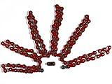Esjot Spezialverstärkte Fahrrad Kette (rot)