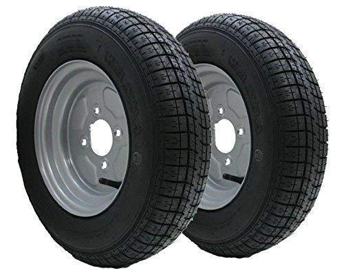 Parnells 2-10'Pulgadas Rueda de Remolque y neumático 145R10 Radial 500kgs 84N 4 Perno 4' PCD