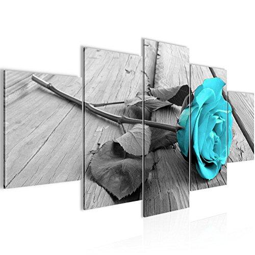 Runa Art Cuadro de Pared con diseño de Flores y Rosas, 200 x 100 cm,
