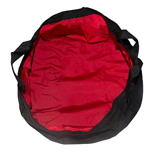 Sijueam Lavabo Pliable Portable Bassine en Nylon Double Couche pour activités extérieures Camping pique-nique Pêche Randonnée Voyages, (8,5L, Rouge)