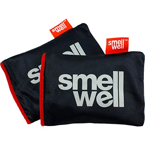 SmellWell | Shoe Deodorizer | Natural Bamboo Charcoal Air Purifying Bag | for All Shoes, Boxing Gloves, Gym Bags, Lockers & Closets | Set of 2 |