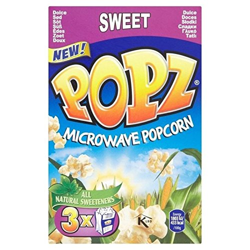 Best Deals! Popz Microwave Popcorn Sweet 3 x 90g - Pack of 6