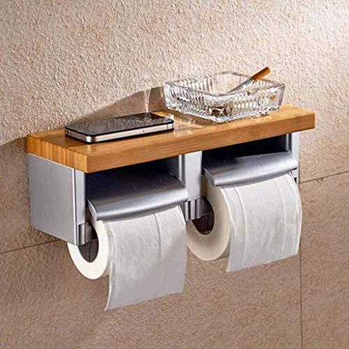 KMILE Toalla de baño Rack Hojo Inodoro Caja de Tejido Bandeja Titular de Papel Roll