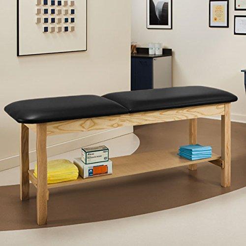 Treatment Exam Table Wooden Full shelf Adj backrest 30