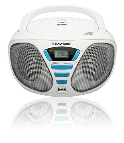 Blaupunkt BB5WH Boombox mit Radio/CD/Mp3-Player (mit LCD-Display, USB) weiß
