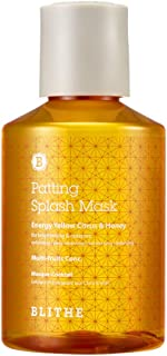Blithe Patting Splash Mask Energy Yellow Citrus & Honey for Brightening & Radiance, 150 Milliliter