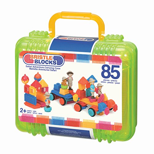 Bristle Blocks by Battat - The Official Bristle Blocks - 85 Pieces in a Carry Case - Creativity Building Toys for Dexterity and Fine Motricity - BPA Free 2 years +