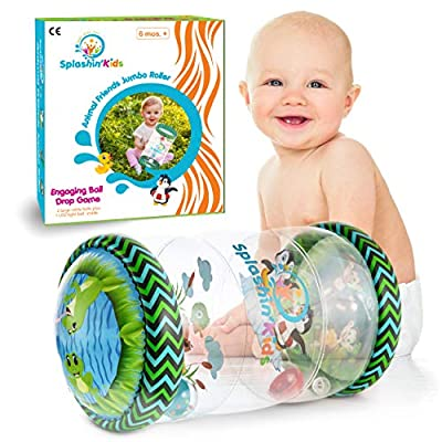 Splashin'kids Infant Toys Beginner Crawl Along Game Ball Drop Maze Tummy Time Activity Center Early Development Jumbo Roller Rattle Toy Baby Toys for 6 Months 1 2 3 Year olds Watch Video