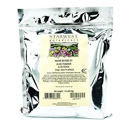 Starwest Botanicals Aloe Powder, 1 Pound