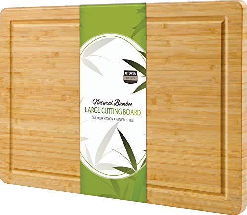 Utopia Kitchen Extra Large Bamboo Cutting Board (16.9 by 12 inch)