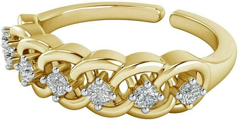 1 Ct Round Cubic Zirconia Womens Yellow Gold Toe Ring 14k National products Jacksonville Mall