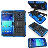 FETRIM Coque Samsung Galaxy S6, Coque Galaxy S6 Armure Support TPU Silicone + Plastique Protection Étui,Anti Chocs Bumper Hybride...