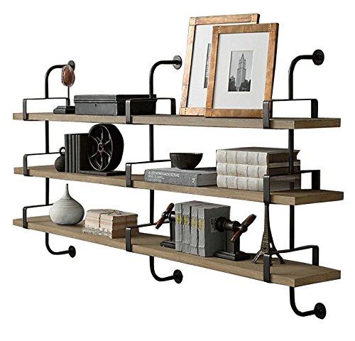 FFF-shelf Panel de Madera Maciza Hierro Sala de Estar Estudio Pared estantería Creativa partición