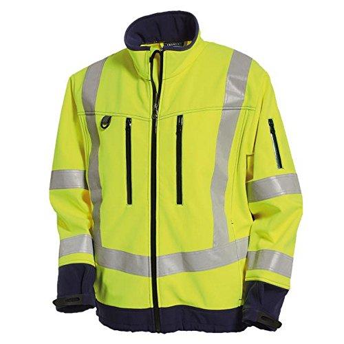 Tranemo 4832-48-94-XXL Softshell Jacke CE-ME HV Größe XXL in gelb/marine blau