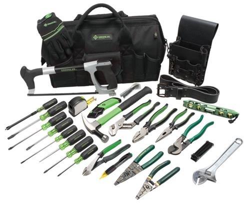 Big Sale Best Cheap Deals Greenlee 0159-11 Electrician's Tool Kit, 28-Piece