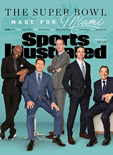 Sports Illustrated Magazine (February, 2020) The Super Bowl Made For Miami Joe Namath, Chuck Howley, Lynn Swann, Terry Bradshaw, Jerry Rice, Steve Young, John Elway, Peyton Manning and Drew Brees