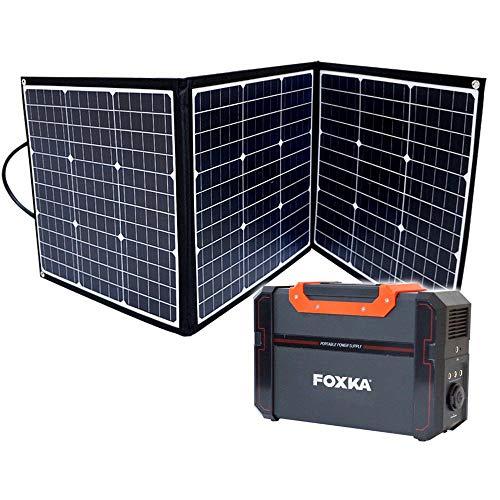 ポータブル電源 120000mAh ソーラーパネル 120W セット 1年保証 家庭用蓄電池 防災 停電対策 キャンプ 車中泊 アウトドア [XAA374XO829]