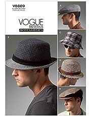 VOGUE PATTERNS V8869 - Patrones de Costura para Sombreros de Hombre (Todas Las Tallas)
