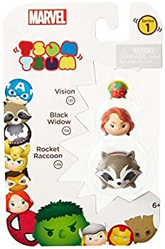 TSUM TSUM Marvel 3-Pack  Rocket/Black Widow/Vision Toy Figure