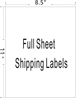 Firstzi Full Sheet Self Adhesive Shipping Labels, 1 UP, 8-1/2x11 Inches Address Labels Sticker for Laser/Inkjet Printer, 100 Labels