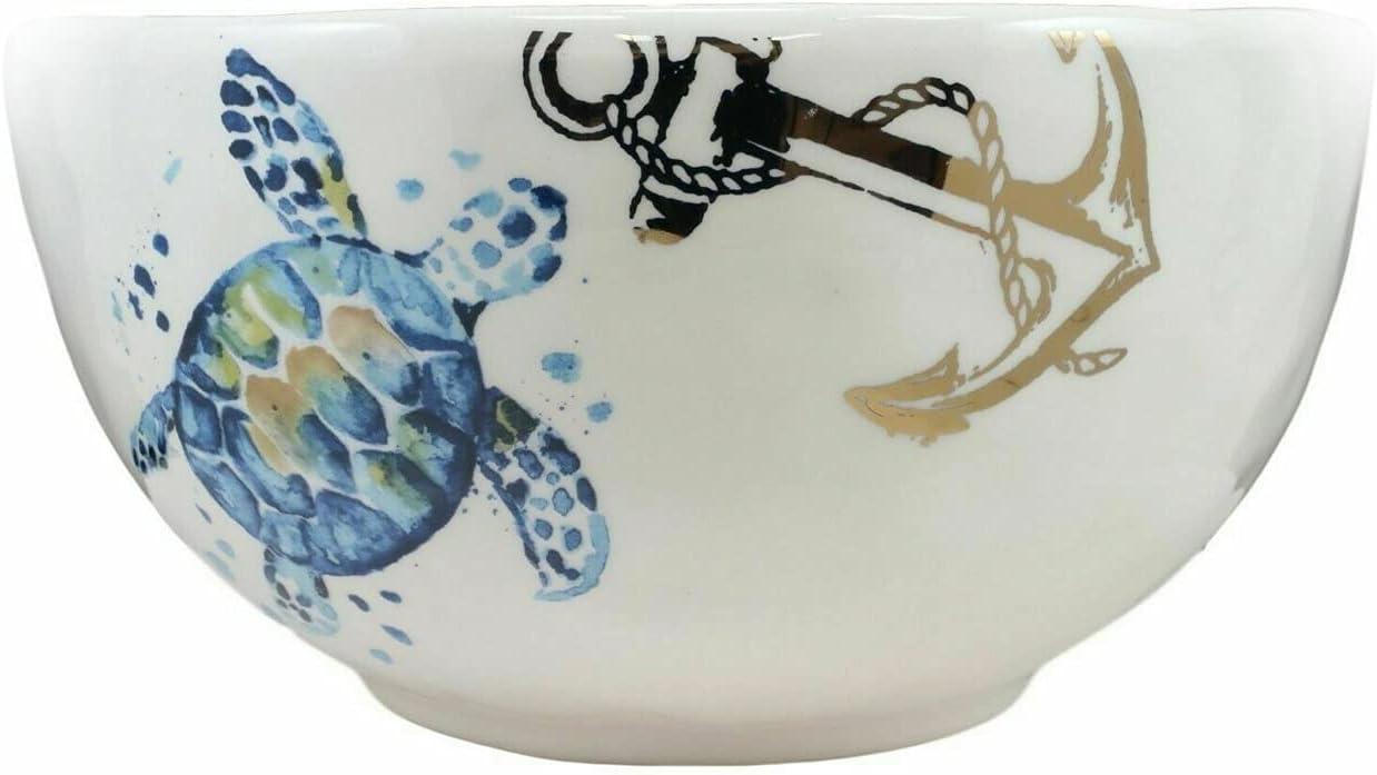 New Marine OFFicial site Blue Sea Turtle Ceramic Classic S Soup Pasta Large Salad Rice