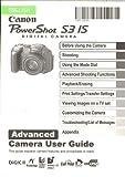 Canon PowerShot Digital S3 IS Advanced User Instruction Manual (genuine Canon manual)