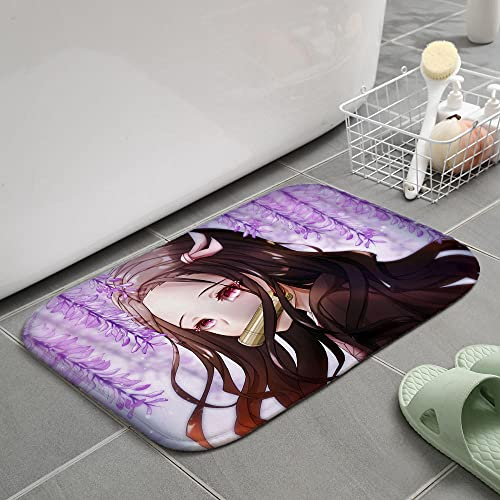 3D Alfombra de Demon Slayer, alfombras de Anime, cojín para Silla giratoria de Estudio para Dormitorio, tapete de Creatividad para niños-80X120CM-A_40x60cm