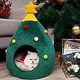 Yete Niche forme sapin de Noël pour chat, animal de compagnie Abri Maison