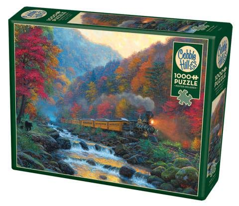 Cobble Hill 1000 Piece Puzzle - Smoky Train - Sample Poster Included