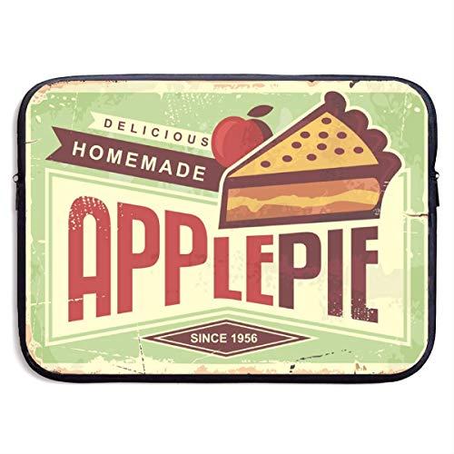 Köstliche hausgemachte Apfelkuchen Retro Werbeartikel ADV Laptop Sleeve Tasche wasserdicht schwarz