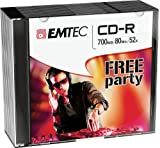 Emtec ECOC801052SL CD en Blanco CD-R 700 MB 10 Pieza(s) - CD-RW vírgenes (CD-R, 700 MB, 10 Pieza(s), 120 mm, 80 min, 52x)
