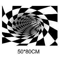 PStylish渦巻錯覚敷物3Dトラップ効果印刷カーペット寝室リビングルーム研究室フロアマット