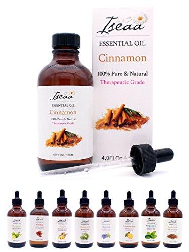 100% reines Ätherisches Zimt Öl Therapeutische Grad Duftöl Zimtöl für Aromatherapie, Massage, Wellness, Aroma Diffuser, Duftlampe 118 ml