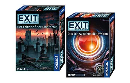 EXIT - Das Spiel: Friedhof der Finsternis + Das Tor zwischen den Welten (Level: Fortgeschrittene), Escape Room Spiele ab 12 Jahren