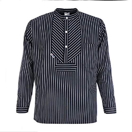 Modas Finkenwerder Fischerhemd BasicLine breit gestreift, Größe:XL
