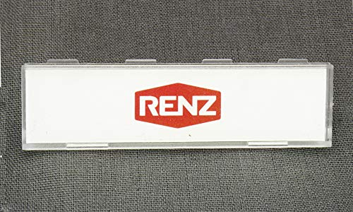 RENZ Namensschildabdeckung mit Namensschildeinlage 97-9-82146 (5 Stück)